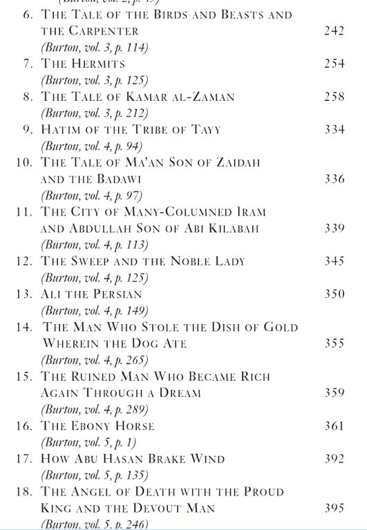 1001 nights toc