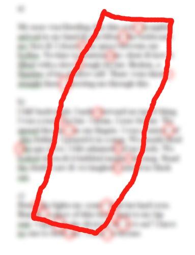 blurred pope poem line